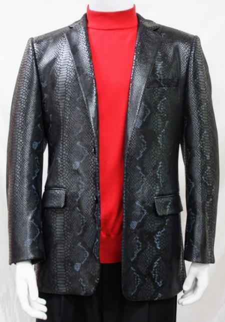 Snakeskin Print Snake Jacket