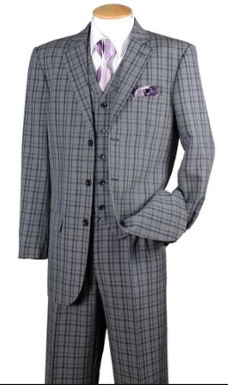 Navy Plaid 1920s Style