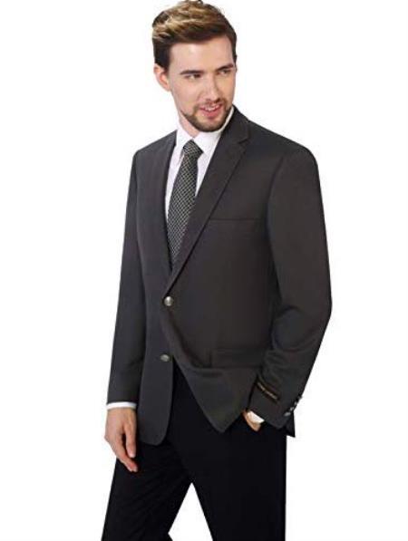 Mens Classic Fit Sport Coat Suit Jacket Blazer Blue