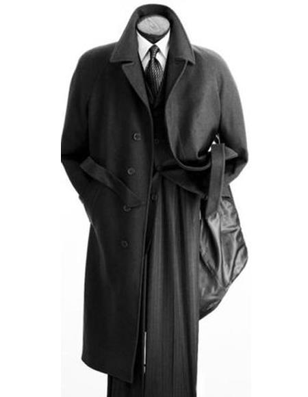 Length Wool Overcoat Belted