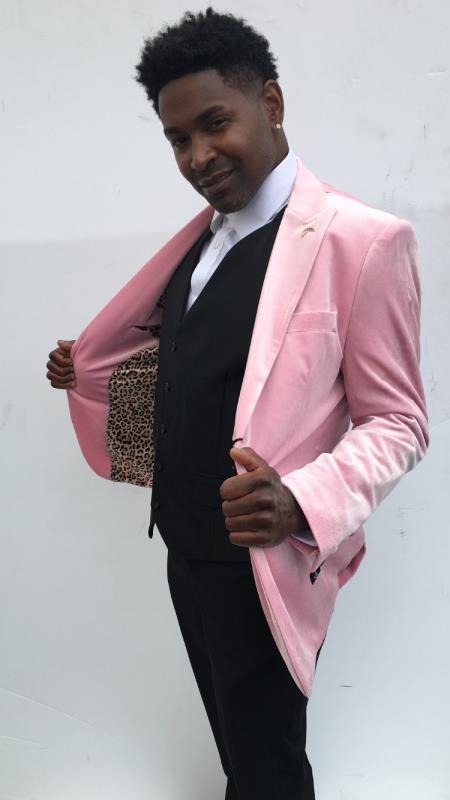 Mens Wedding / Prom Slim Fit Blazer Pink Perfect For Prom Clothe - Prom Outfits For Guys
