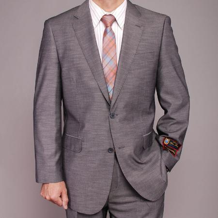 Gray Single-breasted closure Two button front Graduation Suit For Boy / Guys