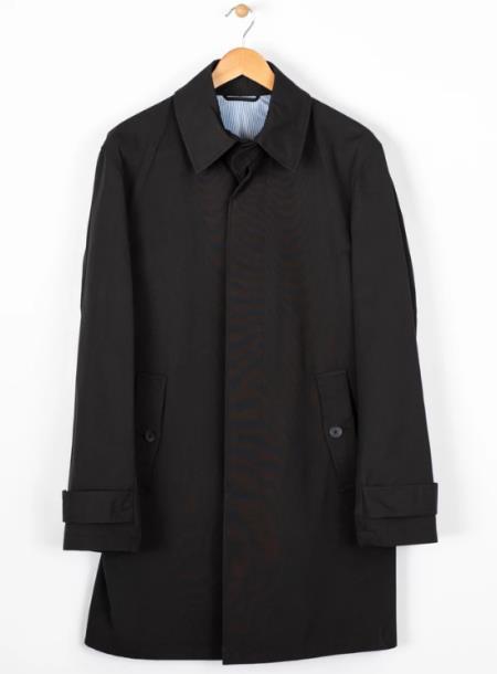 Quarter Trench Coat Black