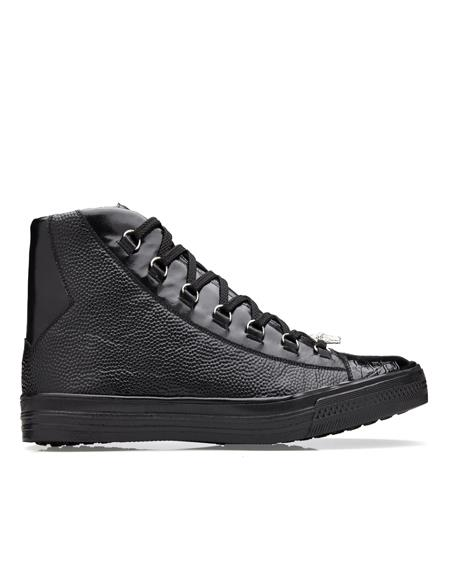 Black Rubber sole Full Sizes Belvedere Sneakers