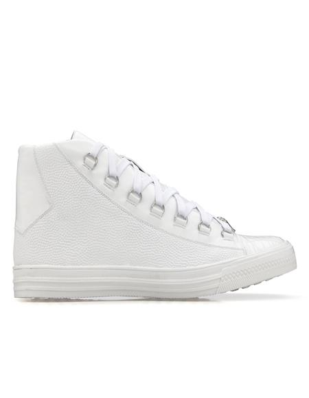 Mens Leather lining Rubber sole Belvedere Sneakers in White