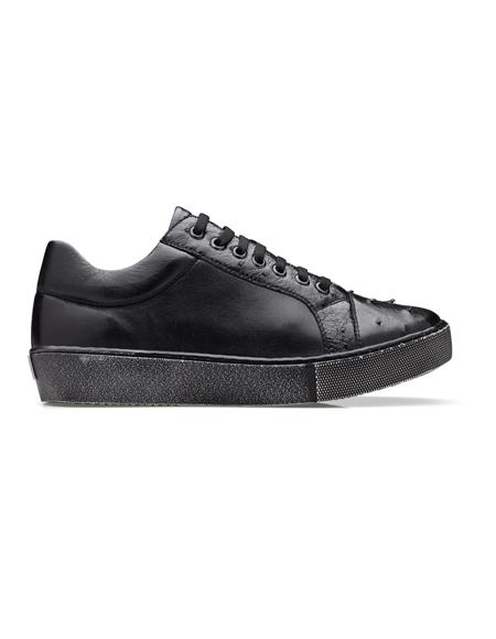 Black Cushion Insole Belvedere Sneakers for Men