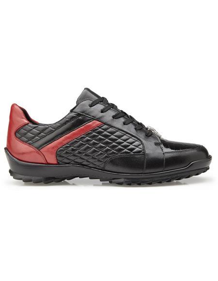 Black Rubber sole Soft Calf Belvedere Sneakers
