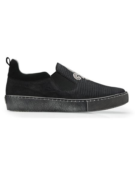 Black Belvedere Sneakers Perfect For Wedding