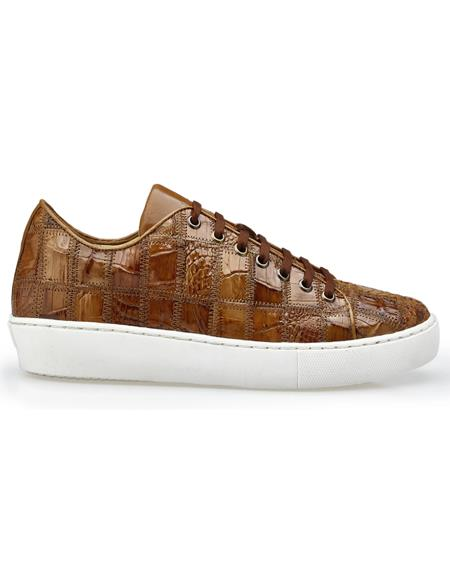 Mens Honey Rubber sole Belvedere Sneakers Perfect For Wedding and Prom