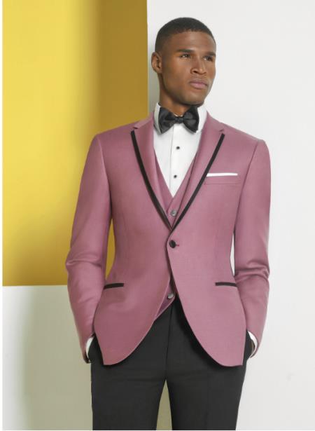 Lapel Rose Gold Suits