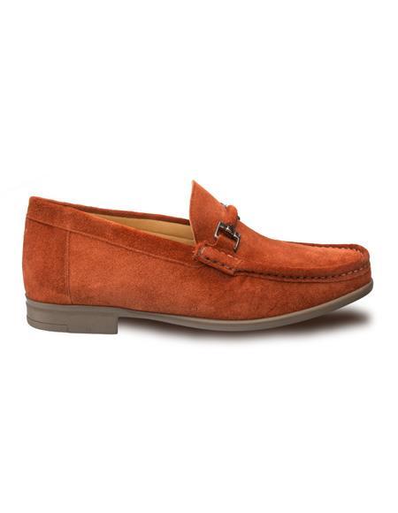Authentic Mezlan Loafer - Mezlan Loafer - Mezlan Slip On Cognac Classic Venetian Moccasin Rich Suede Adorned Mens Shoes