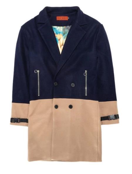 Tone Overcoat Navy
