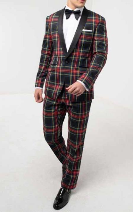 Tartan Tuxedo with Contrast