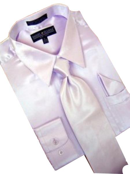 Satin Lavender Dress Shirt