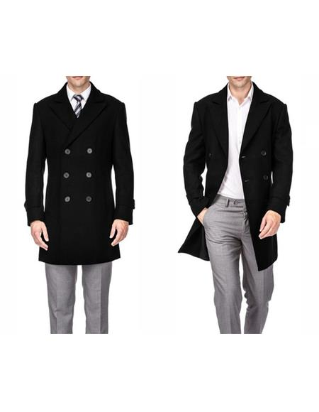 Peacoat Three Quarter Carcoat