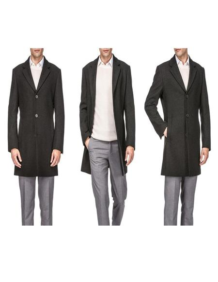 Single Breasted Wool Carcoat