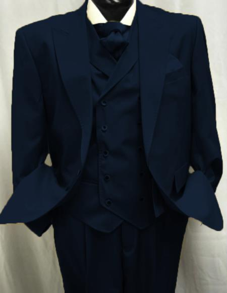 Navy Flap Front Pockets