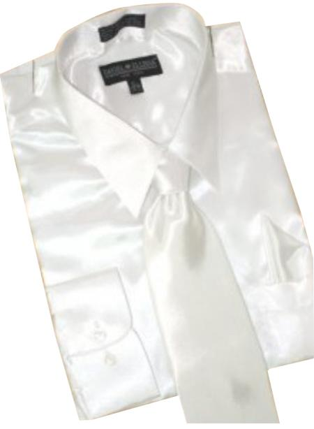Satin White Dress Shirt
