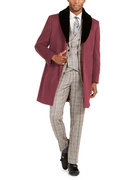 Trim Overcoat Three Quarter