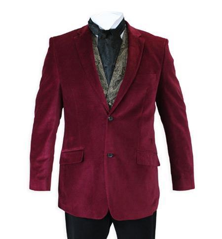 Jacket Velvet Smoking Burgundy