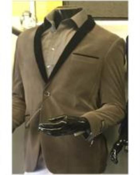 Men's Shawl Lapel Velvet Blazer Available In Gray ~ Grey Tuxedo / velour Blazer Jacket Mens / Tux /