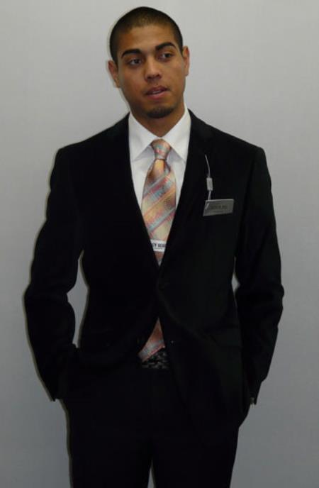 Mens Black Cheap Priced Designer Fully Lined Fashion Jacket