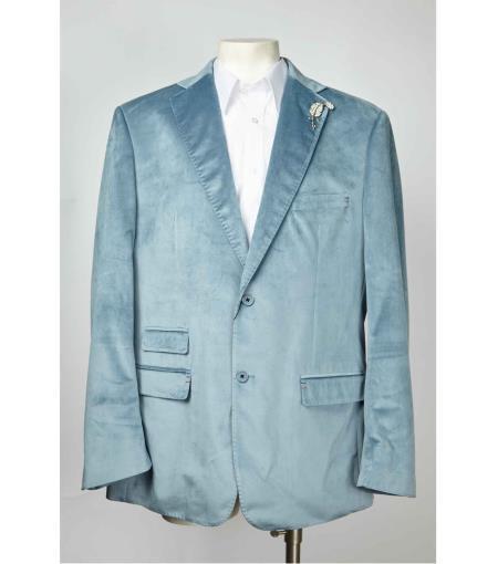 Two Button Notch Lapel Velvet ~ Velour Cheap Priced Designer Fashion Dress Casual velour Blazer Jacket