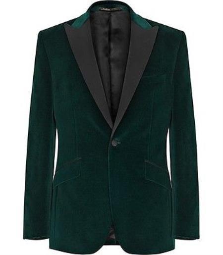 Olive Green Stylish Tuxedo
