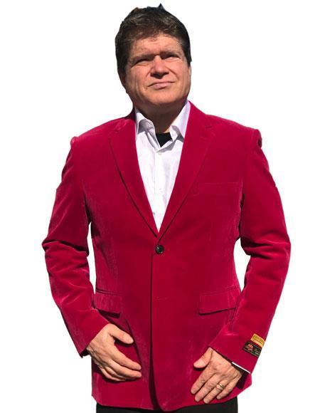 Hot Pink Tuxedo ~ Fuchsia Tuxedo velour Blazer Jacket