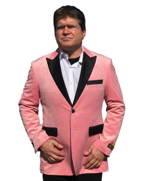 Alberto Nardoni Brand Ligth Pink Tuxedo Velvet Tuxedo velour Blazer Jacket Available Big Sizes
