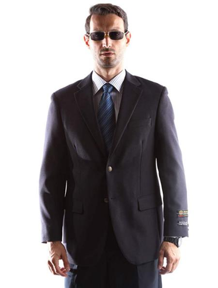 Navy One Chest Pocket Big and Tall & Extra Long Sizes Mens Blazer