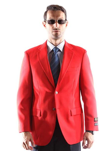 Red Fully Lined Big and Tall & Extra Long Sizes Mens Blazers