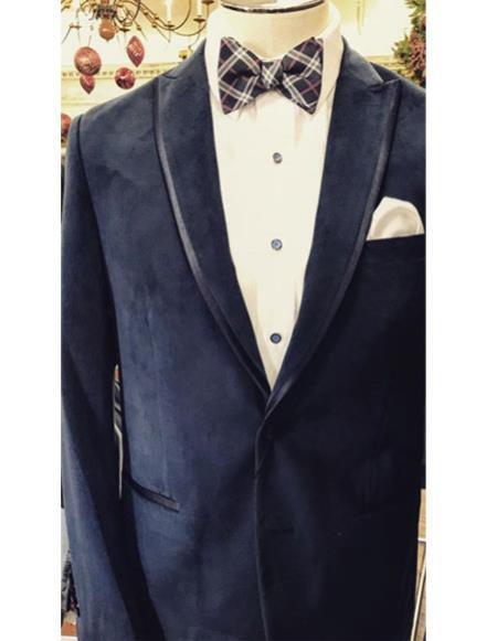 Fancy Tuxedo velour Blazer Jacket ~ Velvet Trim Wedding ~ Prom For Men Perfect For Prom Clothe - Prom Outfits For Guys