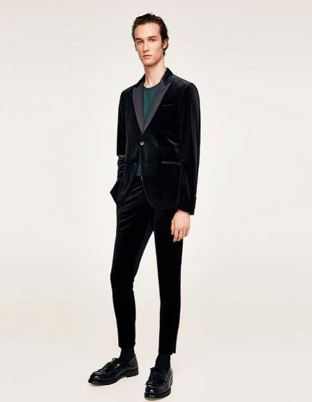 Alberto Nardoni Brand Mens black Cheap Priced Designer Fashion Dress Casual velour Blazer Jacket For Men