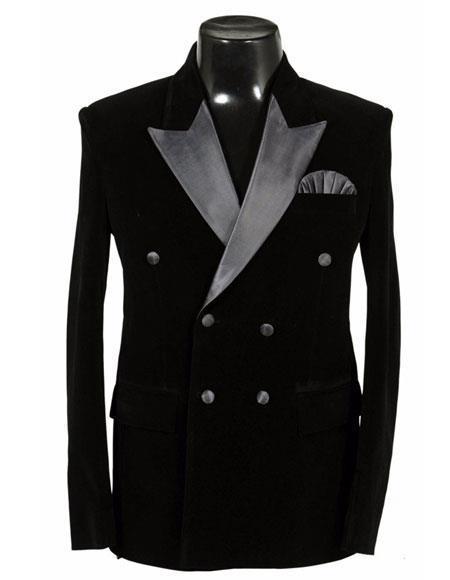 Alberto Nardoni Double Breasted Velvet Dinner Jacket Tuxedo Sport Coat velour Blazer Jacket