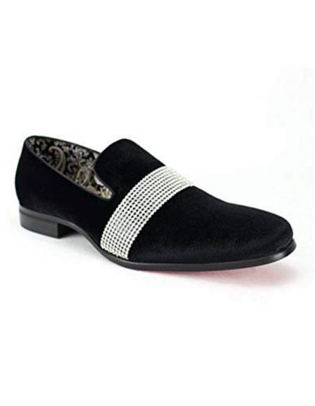 Mens Velvet Loafer Mens Black Velvet ~ velour Blazer Jacket Dress Slip on Loafer ~ Shoe