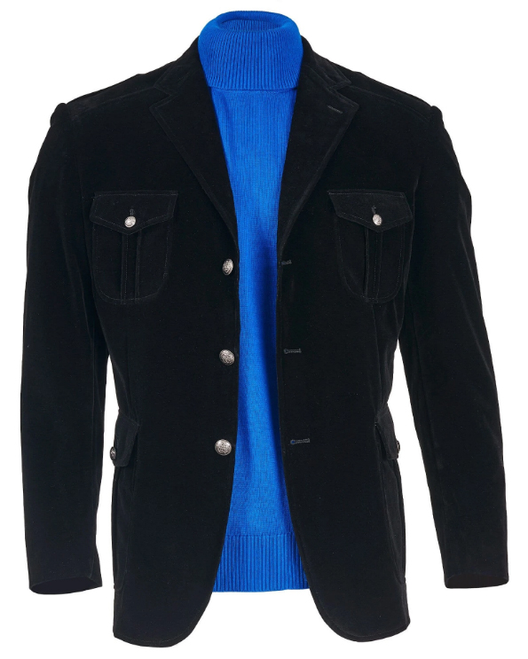 Mens Black 3 Button Jacket Perfect For Wedding and Prom