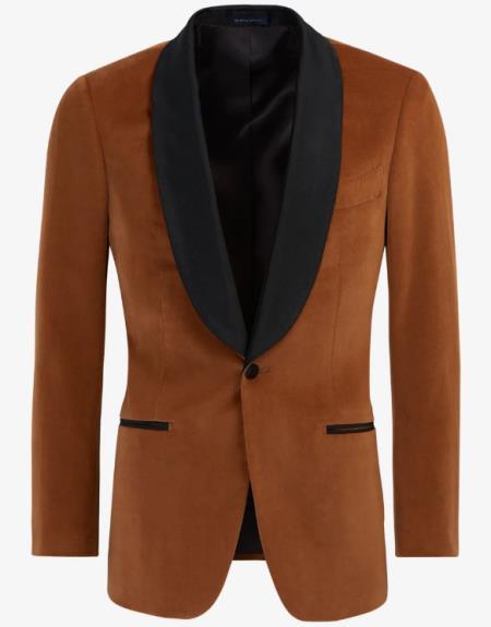 ~ Cognac Velvet Tuxedo