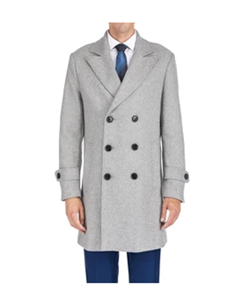 Breasted Coat LT Grey