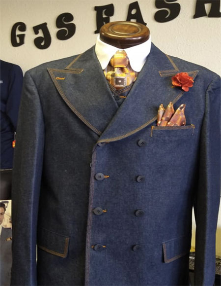 Button Double Breasted Suit