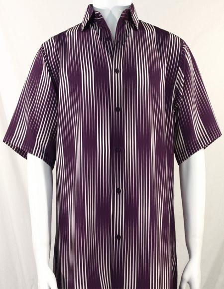 Stripes Pattern Short Sleeve