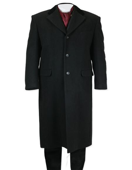 Length Topcoat in Black