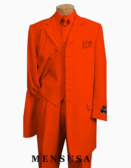 Mens Orange Zoot Suit