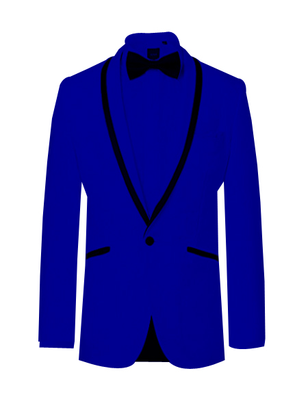 Prom ~ Wedding Tuxedo Dinner Jacket Royal/Black Trim - Color : Royal Blue Tuxedos