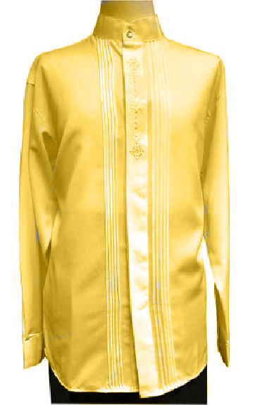 Gold Dimond Front Embroider Long Sleeve Shirt for Men