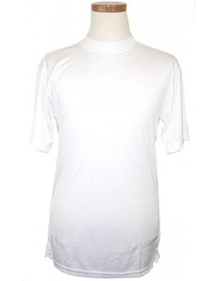 White Short Sleeve Pull - Over Mock Neck T.Shirt for Men