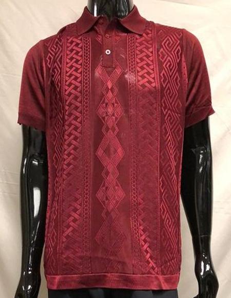 Burgundy Polo Shirts for Men