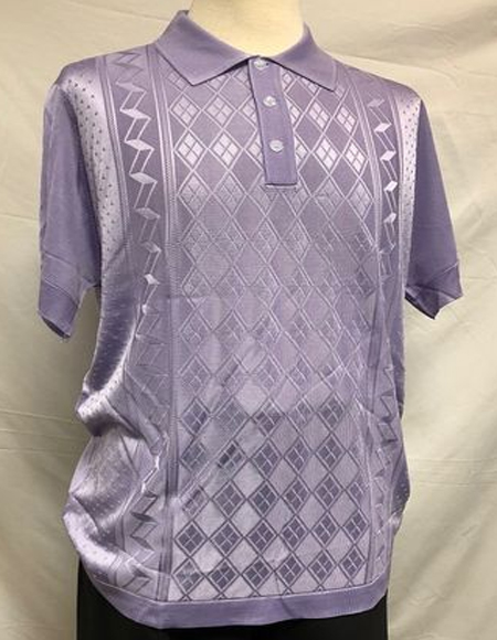 Knit Shiny Polo Shirts