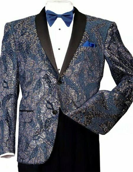 Shiny Sequins Slim Blazer