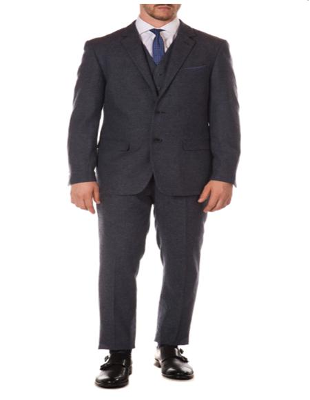 1920s 1910s Peak Blinder Custom Vested Suit Vintage Slim Fitted Blazer and Pants and Vest Navy